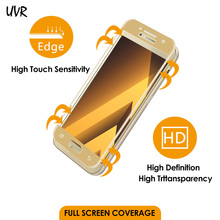 UVR 3D Curved Edge Full Cover Tempered Glass For Samsung Galaxy A3 A5 A7 A320 A520 A720 2017 Screen Protector Protective Film