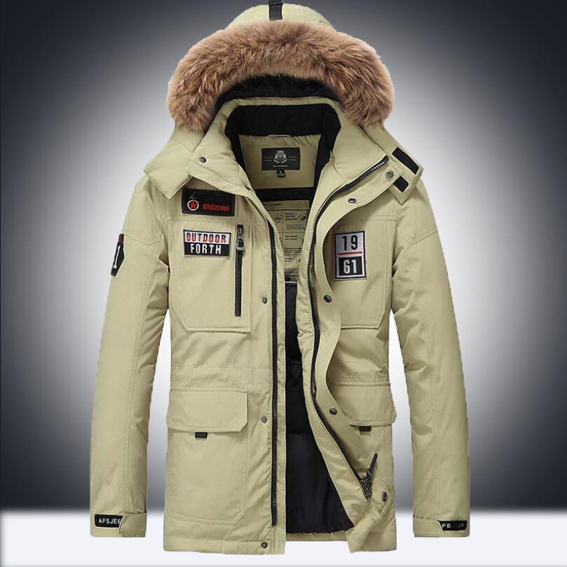 GOVOW Jackets for Men Lightweight Boys Casual Warm Hooded Winter Zipper Coat Outwear