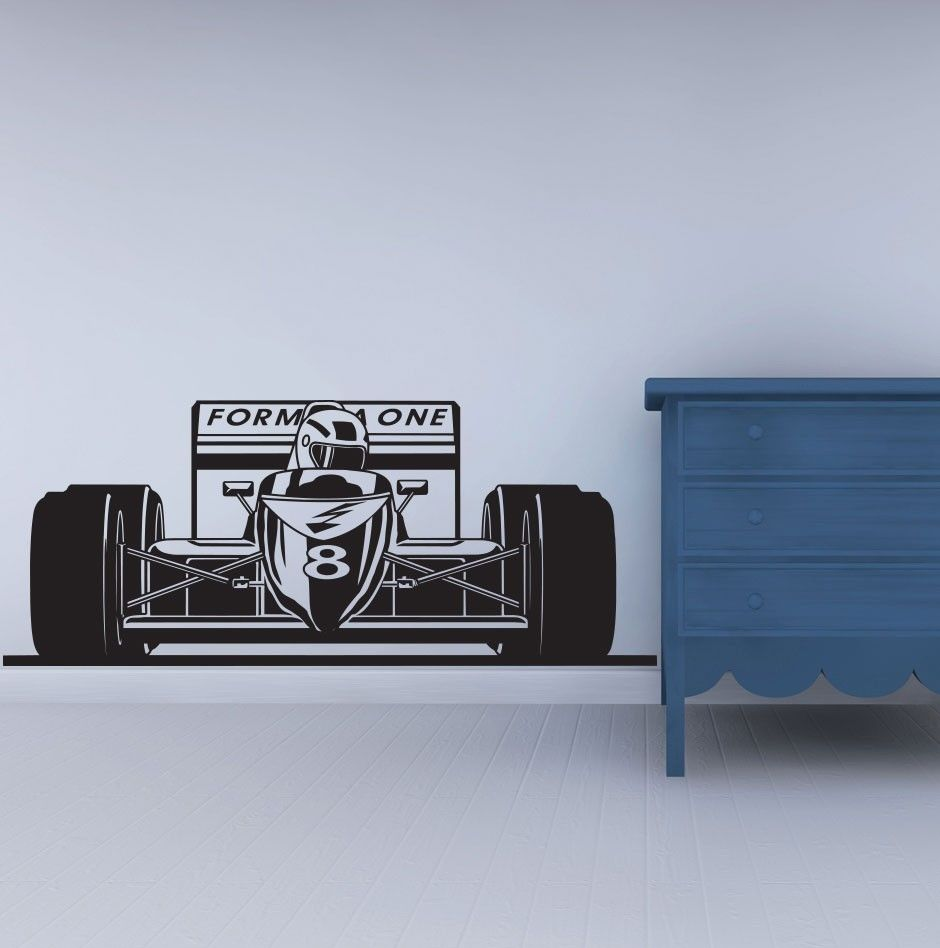 Formel Form Ein Racing Sport Auto Wandtattoo Art Jungen Zimmer Decor ...