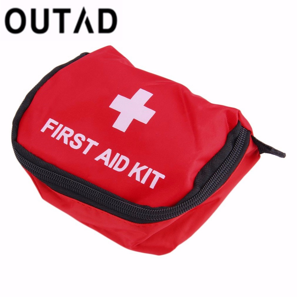OUTAD First Aid Kit 0.7L Red PVC Outdoors Camping Emergency Survival Empty Bag Bandage Drug Waterproof Storage Bag 11*15.5*5cm empty bag for travel medical kit outdoor emergency kit home first aid kit treatment pack camping mini survival bag