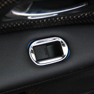 Image 2 - 4 개/대 스테인레스 스틸 자동차 인테리어 창 기중 장치 패널 스티커 혼다 HRV HR V VezeL LHD 2014 2015 2016