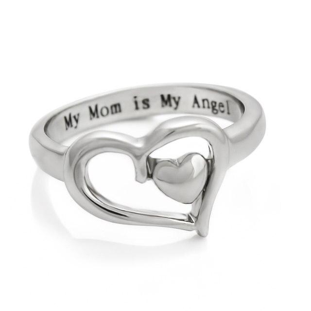 Кольцо женское из серебра 2020 пробы с надписью «my mom is my