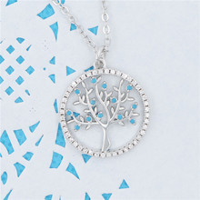 2019 Trendy Cubic Zirconia pendant  necklace for women Silver Plated Tree of Life popular link chain necklaces pandent jewelry