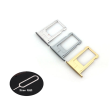 Grey/Silver/Gold Micro Nano SIM Card Tray Slot Holder For iPhone 6S 6sp 6Plus Rose Gold Sim Tray Holder Repair High Quality 50pcs 5000pcs nano sim card socket insert pull 6p phone micro card slot dedicated