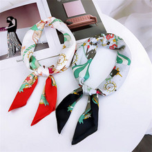 New Style Art Pattern 70*70cm Square Scarves Women Joker Small Neck Scarf Spring,Autumn and Winter Hair Ties
