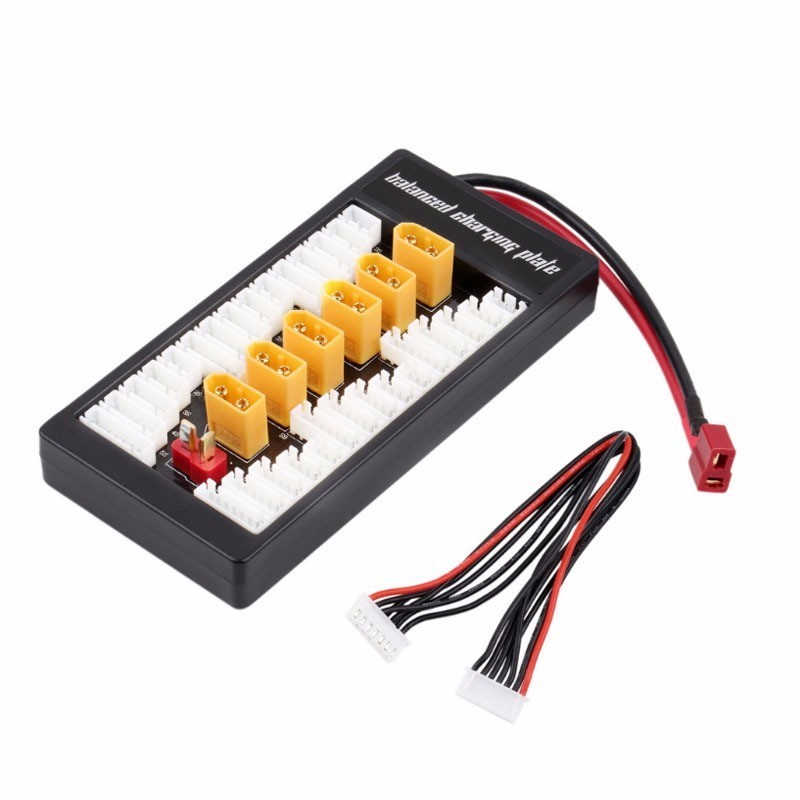 Hot2-6S Lipo Battery Parallel Charging Board Plate Adapter XT60 Charge Board optional T-plug Connector for Imax B6 B6AC Charger image