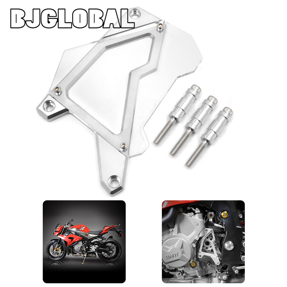 ФОТО CNC Aluminum Front Sprocket Cover Panel Left Engine Guard Chain Cover Protection For BMW S1000R  2014-2015 S1000RR