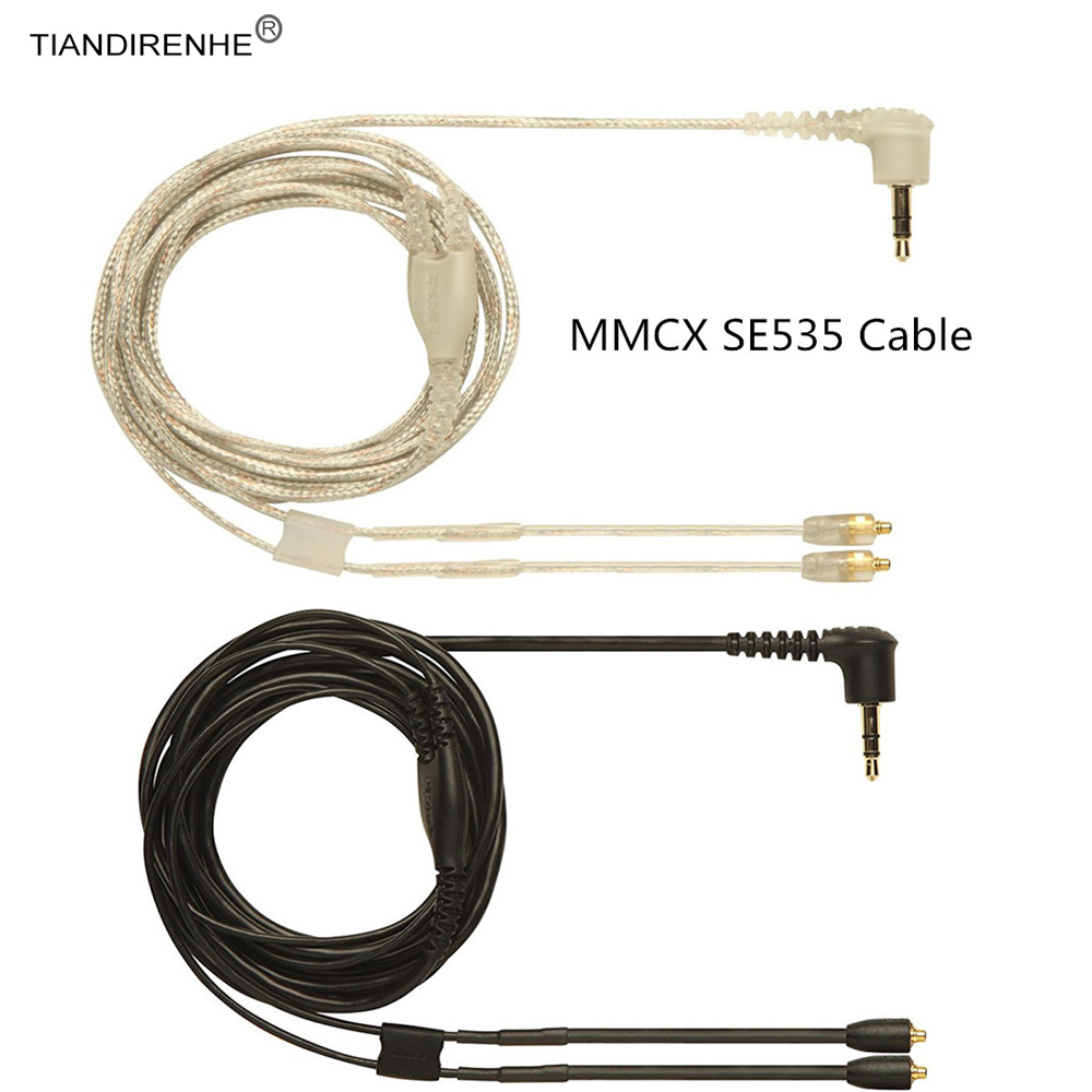 MMCX SE535 Original Upgrade Silver and black Plated Cable Detachable Wire Piano for Shure SE215 SE315 SE535 SE846 UE900 Earphone original mmcx cable se215 gold plated earphone headset headphone replacement cable wire line for shure se315 se425 se535 se846