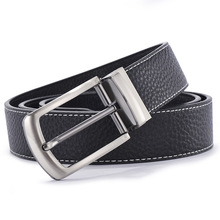 Rotating Pin Buckle Genuine Leather Belt For Men