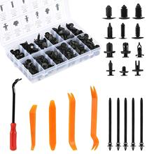 240Pcs Plastic Rivet Car Fastener Removal Tool Trim Rivet Clips Auto Door Panel Installer Cover Pry Repair Fastener Tool Kit недорого