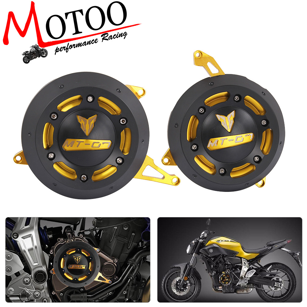 Motoo - NEW Engine Motorcycle Protector For YAMAHA MT-07 MT07 FZ-07 FZ07 4 Color Stator side Case Cover Engine  Cover Protector for yamaha mt 07 mt 07 fz07 mt07 2014 2015 2016 accessories coolant recovery tank shielding cover high quality cnc aluminum