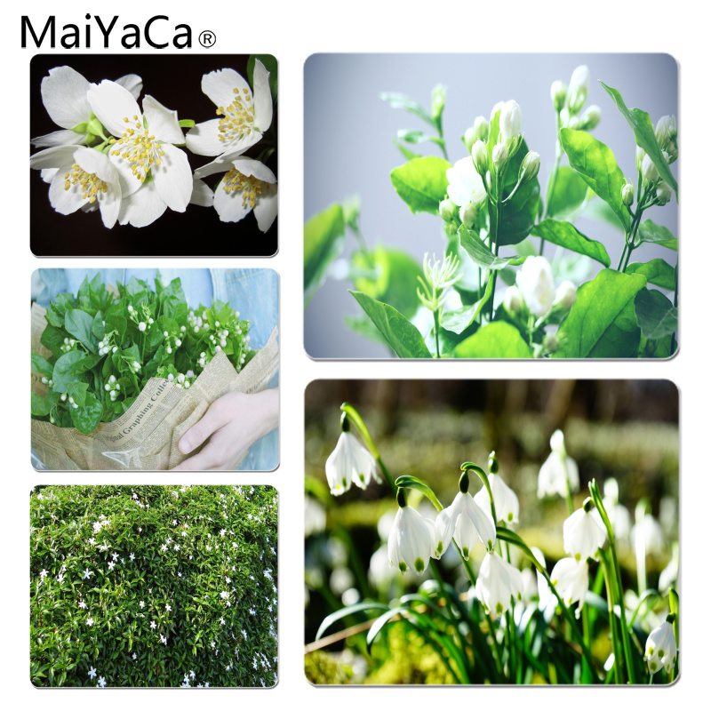 MaiYaCa High Quality Jasmine Customized laptop Gaming mouse pad Size for 180*220*2mm and 250*290*2mm Mousepad