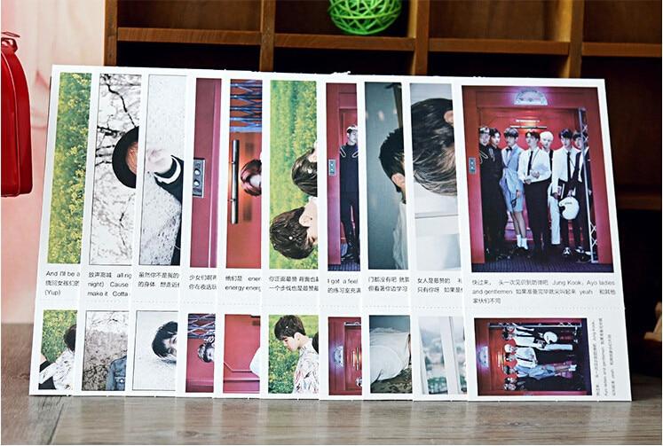 1 Poster Fire Bts K-pop K Pop Bts 1 Sold 2018 Card Photo Card Album Poster Kpop Bts Bangtan Jung Kook Label Post 120 Cards Men's Gloves