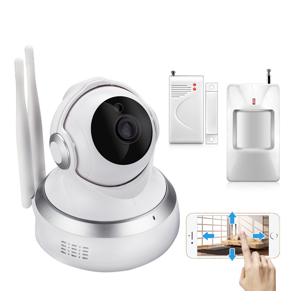 Wireless Sensors 720P Cloud Storage  IP Camera  Wifi Surveillance Night Security CCTV  Camera Indoor Baby Monitor Alarm System 720p hd wifi camera p2p wireless baby monitor security camera cloud storage night vision camera compatible with sensor detector