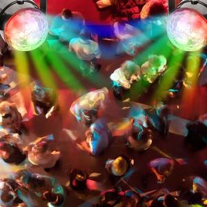 Image 5 - Mini Remote RGB LED Crystal Magic Rotating Ball Stage Lights Sound Activated Disco Light Music Christmas KTV Party EU/US/UK Plug