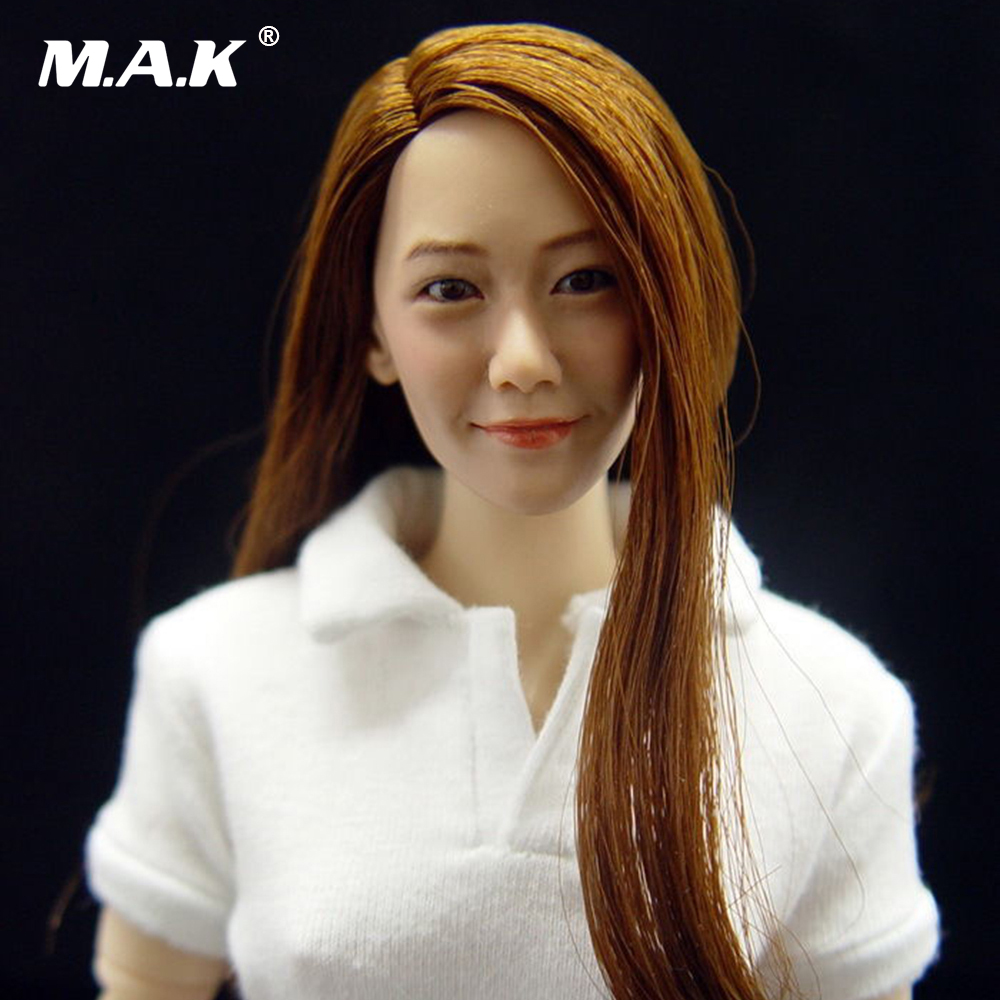 1/6  Headplay Figure Head Model Female CG CY Girl Head Sculpt KM005 for 12 Action Figure Accessory Collection Doll Toys 1 6 scale figure accessories doll female head for 12 action figure doll head shape fit phicne