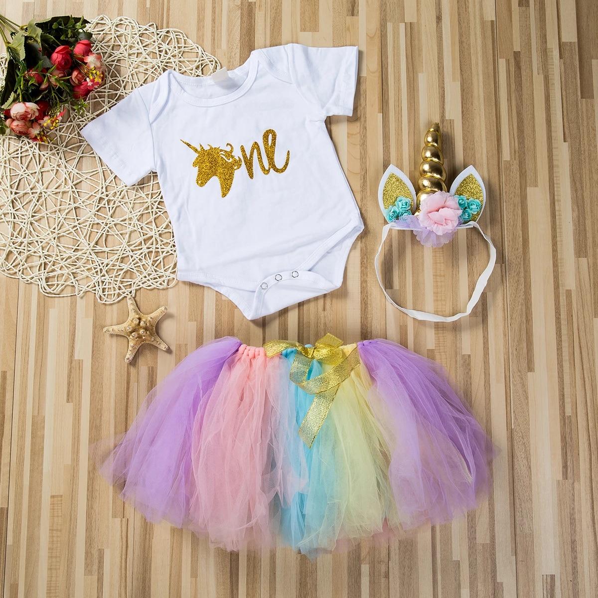 Details about  /Baby Girl dresses 0-3-6-9-12-18months Dress Princess Party bodysuits vest
