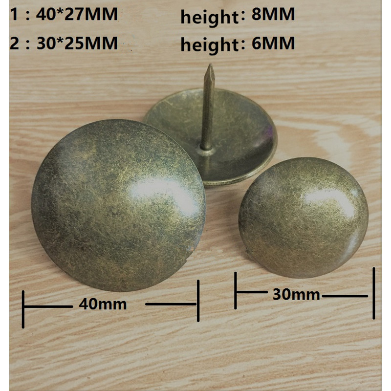 40MM Antique Bronze Upholstery Nail Furniture Jewelry Gift Box Decorative Tacks