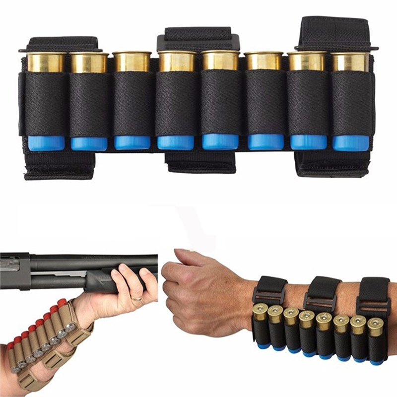 Caccia 21x5 cm Shotgun Shell Tactical Conveyor 8 colpi Shooters Sleeve Avambraccio Mag Bag Pro Shooters Airsoft accessori pistola