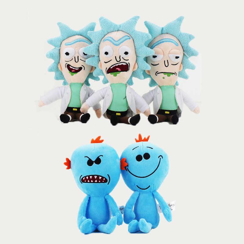 Q Versão do Rick e Morty Plush Toy Mr. Meeseeks Rick Sanchez Macio Stuffed Dolls Presente Das Crianças