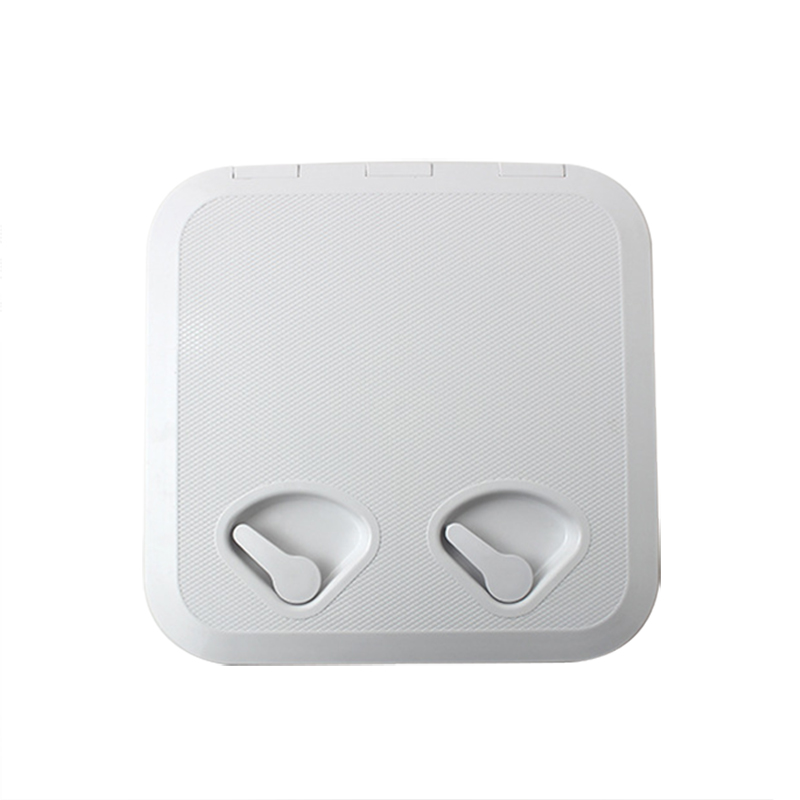 White ABS Marine rectangle deck cover hand hole boat porthole storage box for RV Boat Yatch 370*375mm