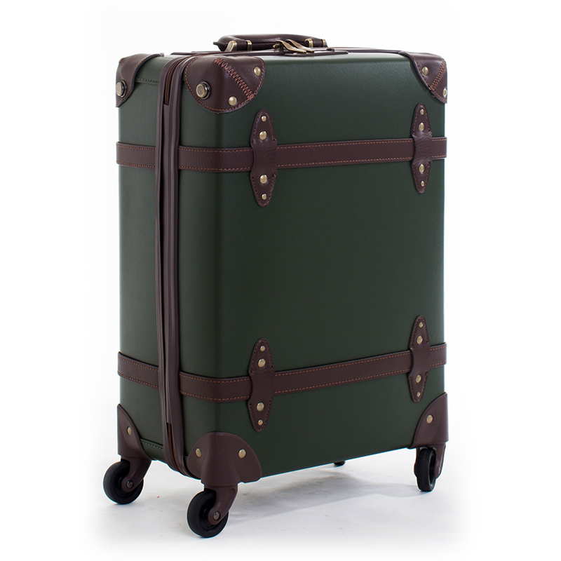 Letrend Vintage Suitcase Wheels Leather Rolling Luggage Spinner Women Retro Trolley 20 inch Cabin Travel Bag Men Carry On Trunk