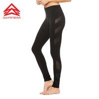 Syprem BLOCK HIGH WAIST LEGGING Side Mesh Splice Design Yoga Pants For Women Sexy Gym Fitness