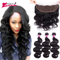 8A Peruvian Body Wave with Frontal Ear to Ear Lace Frontal Closure with Bundles Peruvian Virgin Hair with Closure Human Hair