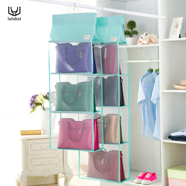 Luluhut 3 To 4 Pockets Big Size Bag Hanging Storage Closet Organizer Tote  Bag Storage Organizer