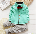 2016 New Fashion Chinese style Sports Children coat 3 Color chose Boy and girl Birthday gift kid pants set baby clothes 1-6Y