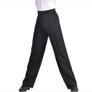 Image 2 - Pantalones de baile modernos para hombre, pantalón de baile latino, Salsa, Tango, Rumba, Samba, Cha, profesional, de baile negro