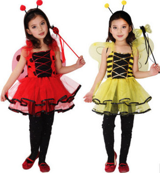 Children's costumes for Halloween Children's costumes Little bee costumes Butterfly cartoon baby dance clothes