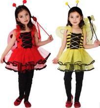 Trajes das crianças do natal para o dia das bruxas trajes das crianças pequena abelha trajes bonitos dos desenhos animados da borboleta roupas de dança do bebê