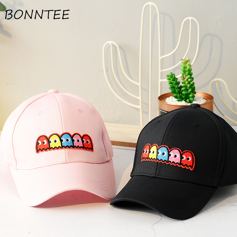 Cartoon Sunshade   Baseball     Cap   Women Chic Kawaii All-match Girls Fashion Womens Embroidery New Style   Caps   Summer Casual Trendy
