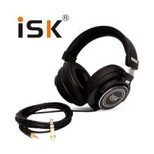 Original ISK MDH8000 Headphones Stereo HiFi DJ fone de ouvido Dynamic Professional Studio Monitoring Headset Auriculares
