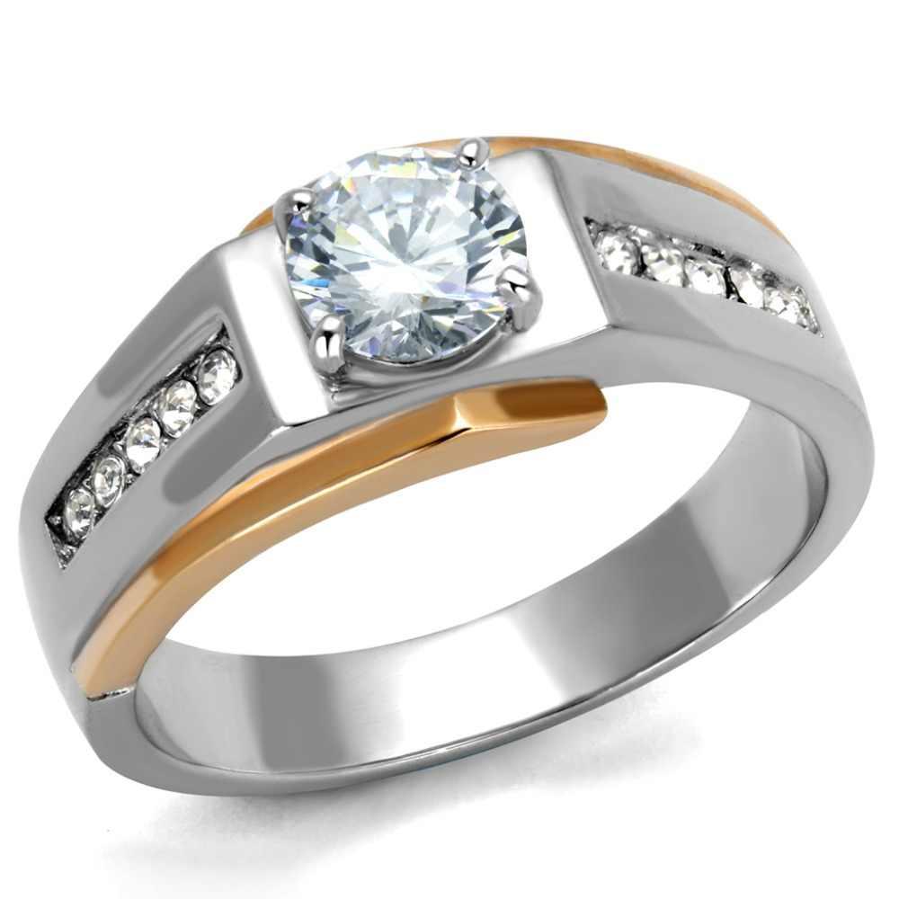 הגעה לניו נירוסטה קריסטל אופנתי תכשיטי אופנה טבעת סגנון טבעת הנישואין גודל מלא משלוח חינם