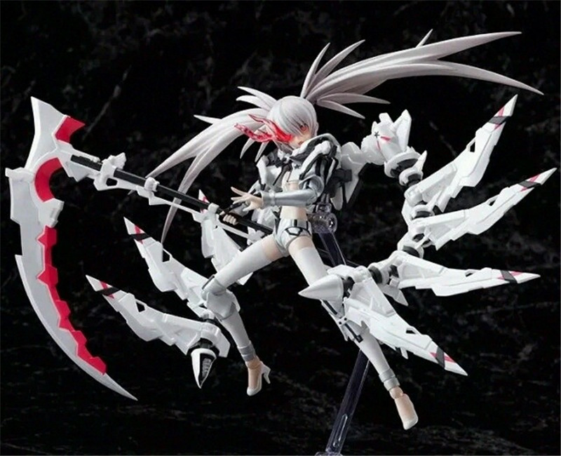NEW 19cm White Rockshooter Black Rock Shooter the Game Figma PVC Action Figure Model Anime Brinquedos Toys Free Shipping 1
