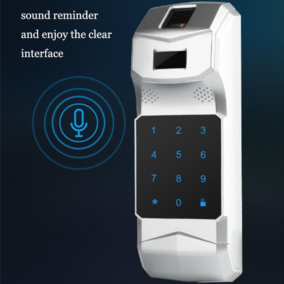 WF-018 sans clé entrée électronique à distance intérieur touché empreinte digitale intelligente serrure de porte sans fil 433 mHZ Invisible intelligent