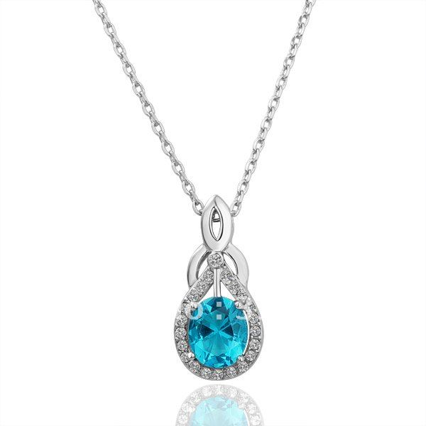 spirit products pendant gold blue flower silver lake and diamond