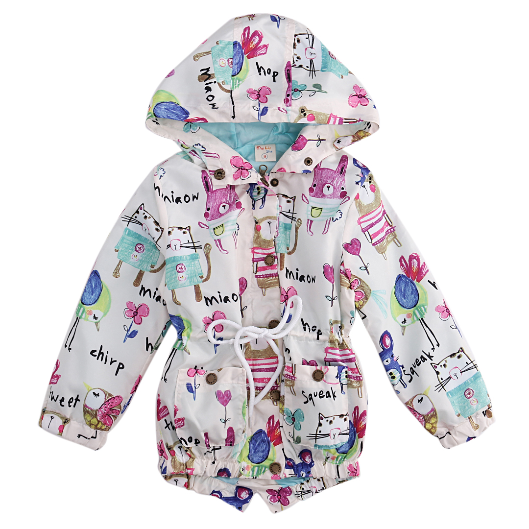 Kids Boys Girls Clothes Winter Spring Casual Long Sleeve Cute Print Jacket Coat Hooded Outerwear Kid Boy Girl Clothes 2-8Y