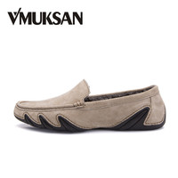 VMUKSAN Hot Sale Men Shoes Fashion Breathable Summer Mens Casual Shoes Pig Suede Leather Male Loafers