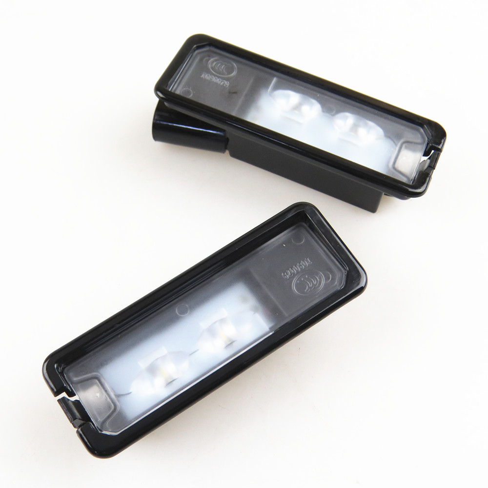 TUKE 2Pcs New 12V LED Car License Plate Light Lamp 35D 943 021 A For VW Passat B6 3C CC Eos Polo Amarok Golf Cabrio MK7 Scirocco 3pcs oem black piano paint chrome car center console air condition vents for passat b6 b7 cc r36 3ad 819 701 a 3ad 819 702 a