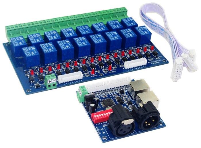 3 قطعه حمل و نقل رایگان کنترلر رله 16CH DMX512 کنترل 16 رسیور رسیور ورودی DC12V ، هر کانال حداکثر 10A
