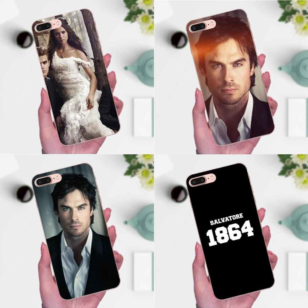 The Vampire Diaries For Apple <font><b>iPhone</b></font> 4 4S 5 5C <font><b>5S</b></font> SE 6 6S 7 8 Plus X XS Max XR Diy Painted Phone Accessories <font><b>Case</b></font> image