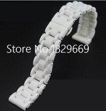 Alta calidad de cerámica blanca de la correa negro. pulsera. band mujer hombre 16 mm 21 mm cerámica correa de reloj