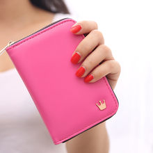 Wallet 2019 New Fahsion Women Short Zipper Crown Decorated Mini Money Purses Coin Purse Card Holder Bag(China)