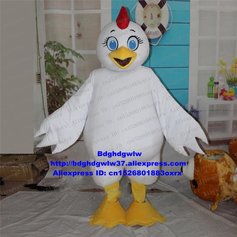 Erfinderisch Weißen Hahn Hahn Henne Küken Huhn Chook Chickling Maskottchen Kostüm Cartoon Charakter Festival Geschenk Werbeartikel Zx2194 Ein BrüLlender Handel