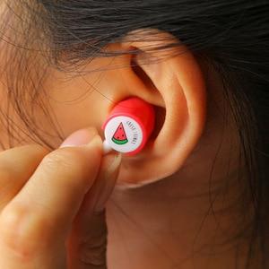Image 4 - יפה אוזניות פירות סוכריות צבעוני אוזניות 3.5mm באוזן עם מיקרופון עבור טלפון Xiaomi בנות קיד ילד תלמיד עבור MP3