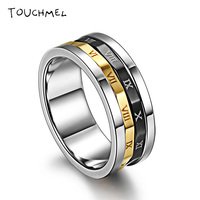 Roman Password Titanium Fidget Ring Stainless Steel Spinner Ring Toy For Autism And ADHD