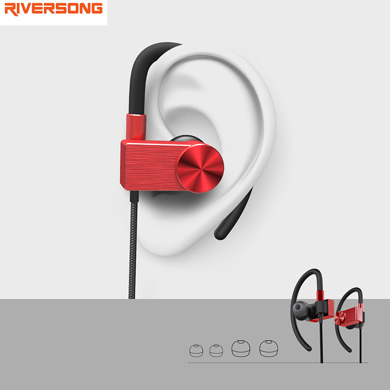 ФОТО Sport Bluetooth Earphone Magnet Wireless RIVERSONG SoundFit2 Earphones Bluetooth 4.1 Noise Reduction Earbuds with Microphone